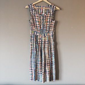 ANTHROPOLOGIE Tracy Reese Sunchecked Shirtdress 0